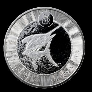 MARLIN - CAYMAN ISLANDS - 2017 1 oz Pure Silver Coin in Capsule