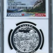 GRIZZLY BEAR - FAMILY - EARLY RELEASES - NGC PF70 ULTRA CAMEO - 2015 $20 1 oz Fine Silver Coin