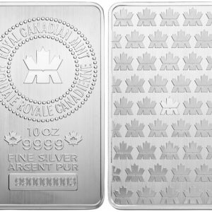 10 oz New Royal Canadian Mint Silver Bar