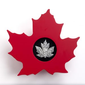 2015 $20 1 oz Fine Silver Coin - The Canadian Maple Leaf Shape Coin