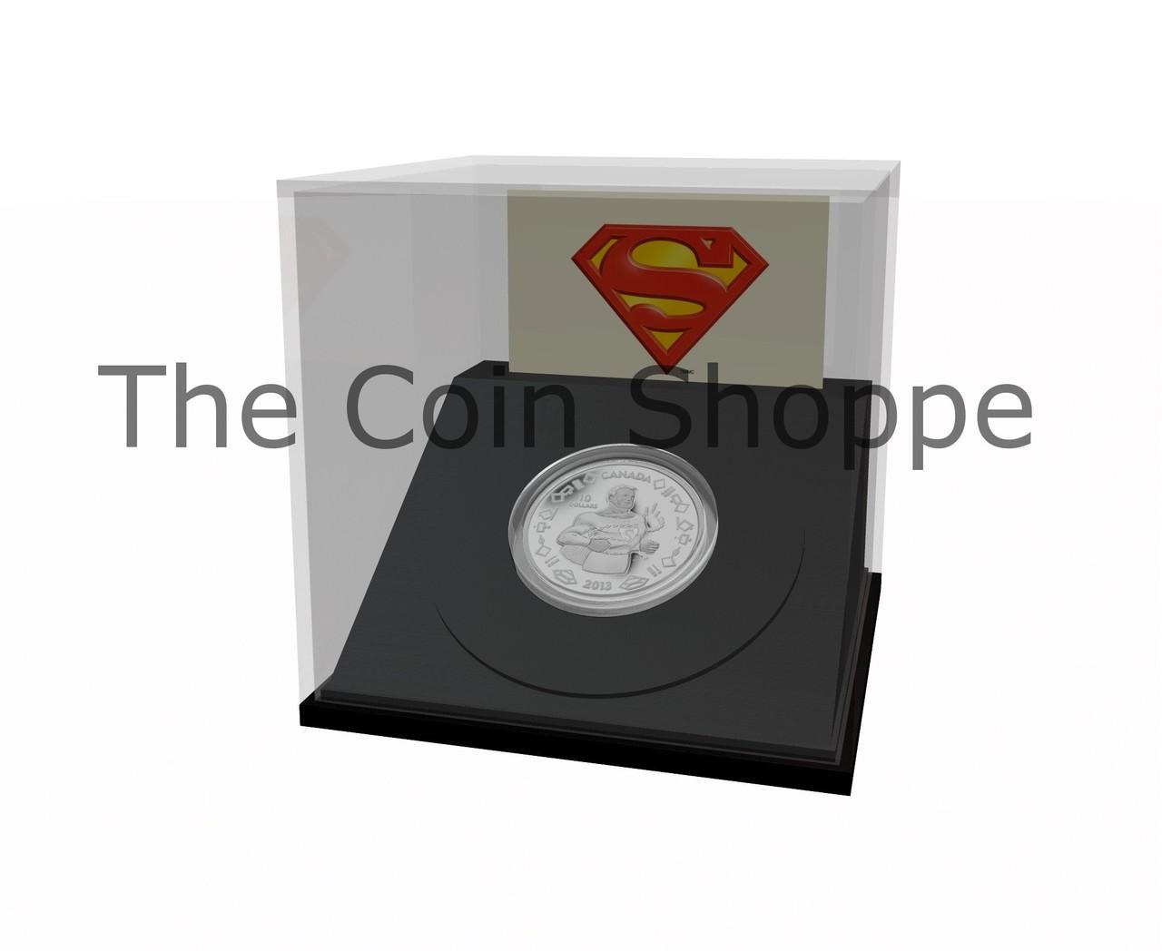 2013 $10 Fine Silver Coin Vintage Superman™ Superman