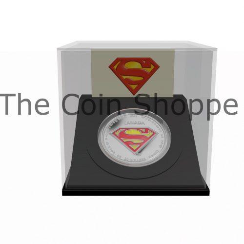 1 oz $20 Fine Silver Coin ƒ?? Supermanƒ?›ƒ??s S Shield - Mintage: 10,000 (2013)