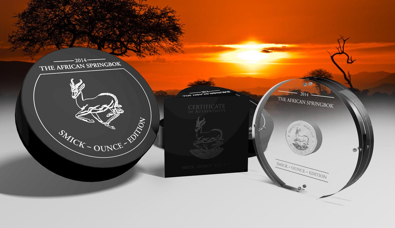 2014 1 oz Silver Coin - The African Springbok Smick Ounce Edition - The  Coin Shoppe
