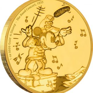 MICKEY MOUSE - THROUGH THE AGES - THE BAND CONCERT - 2016 1 oz Pure Gold Coin - NZ MINT