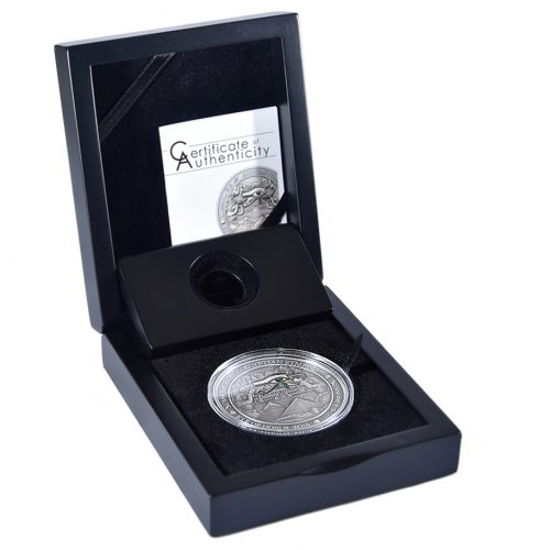 EYE OF HORUS - EGYPTIAN SYMBOLS - 2015 3 oz High Relief Pure Silver Antique Finish Coin - Palau