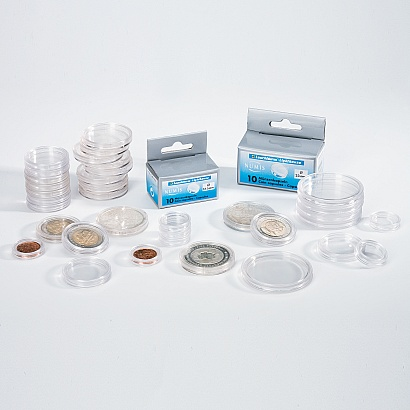 CLEAR COIN CAPSULES - 10 PER PACK - 38mm - Silver Maple Leaf, US Silver Dollar