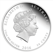 2016 50 cents 1/2 oz Fine Silver Coin  - Australian Lunar Series - Year of the Monkey - Perth Mint
