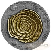 EVOLUTION OF EARTH: NUMMULITES - 2017 2 oz Pure Silver High Relief Coin - Mint of Poland - Niue