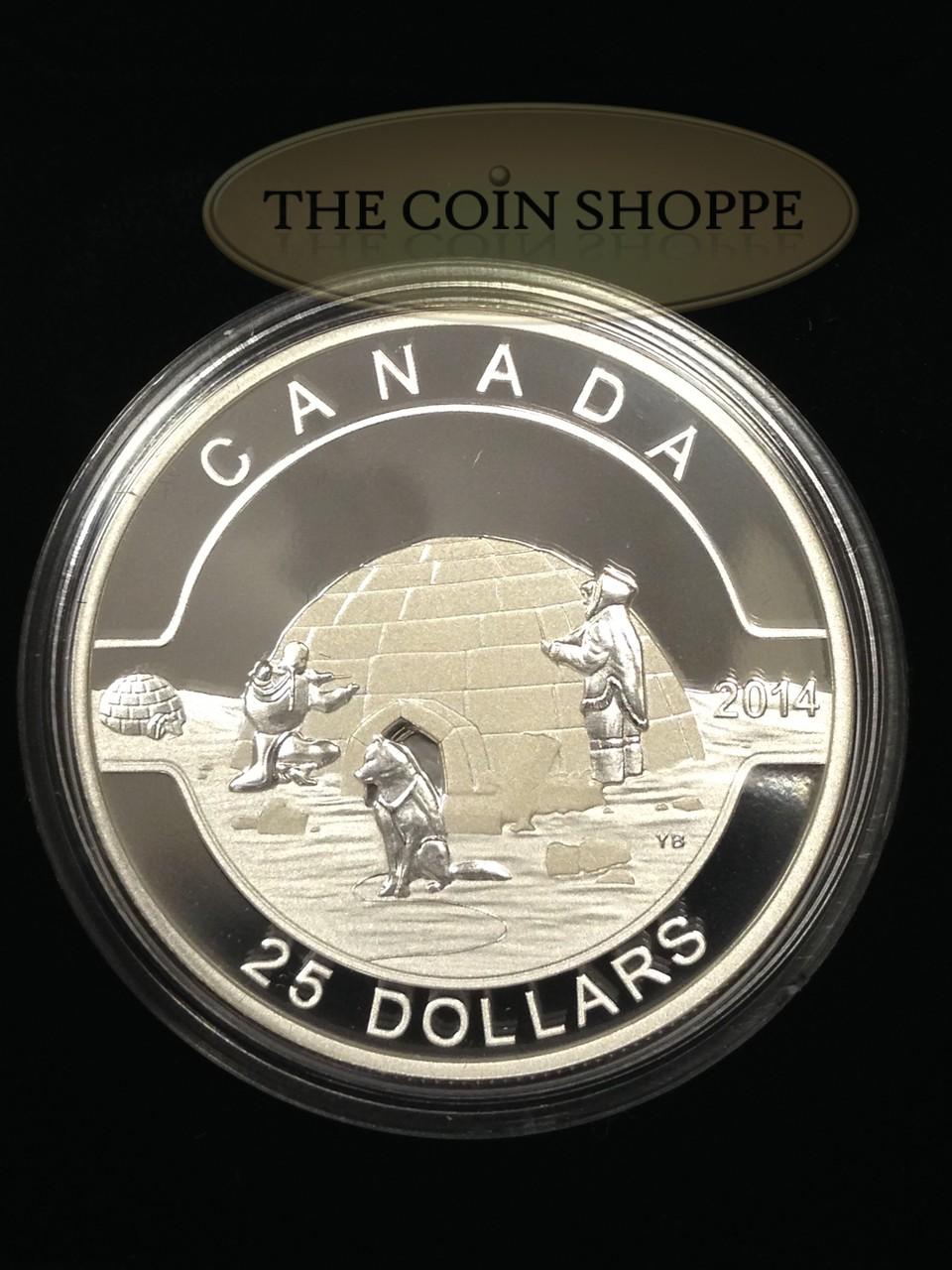"""2014 Canada Silver $25 /""""O Canada The Igloo/"""""""
