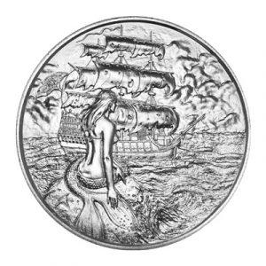 SILVER SIREN - PRIVATEER SERIES - 2 oz Ultra High Relief Pure Silver Coin