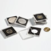 SQUARE COIN CAPSULES QUADRUM - 10 PER PACK - 38mm - Silver Maple Leaf, US Silver Dollar