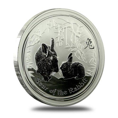 "2011/""Lunar Year of /""The Rabbit/"" Australia $1 Dollar UNC Coin on Card"