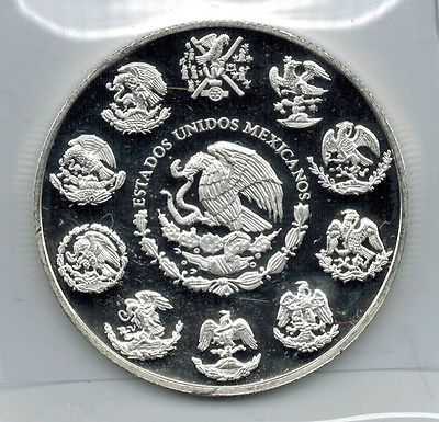 ** SPECIAL $2.00 CAD OVER SPOT ** OBSERVATORIO  (Observatory) - 2011 1 oz SILVER PROOF Coin - MEXICO (CULLS)