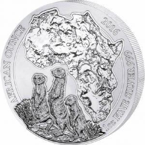 RWANDA MEERKAT - 2016 1 oz Silver Coin