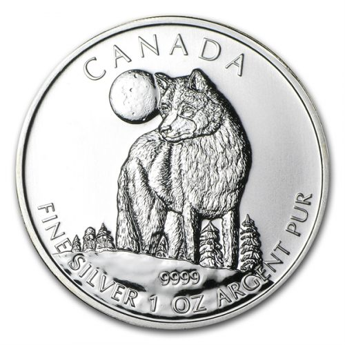 1 oz Timber Wolf  Silver Coin Canadian Wildlife Series - 2011