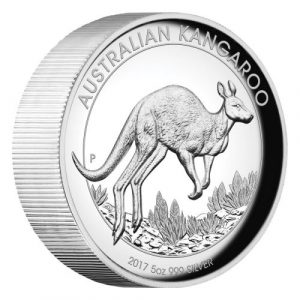 AUSTRALIAN KANGAROO - 2017 5 oz High Relief Silver Proof Coin - Perth Mint