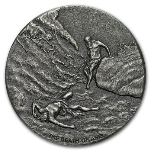 THE DEATH OF ABEL  - Biblical Series - 2017 2 oz Silver Coin - Scottsdale Mint - Niue