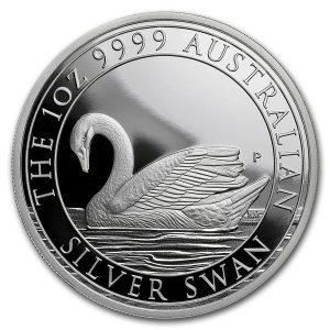 SILVER SWAN PROOF - 2017 1 oz Pure Silver Coin in Capsule - Perth Mint