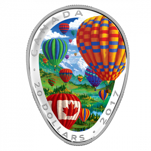 *HOT AIR BALLOONS - 2017 $20 1 oz Fine Silver Coin - Royal Canadian Mint