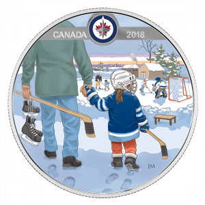 *LEARNING TO PLAY: WINNIPEG JETS - 2018 $10 1/2 oz Fine Silver Coin - Royal Canadian Mint