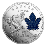 *100TH ANNIVERSARY OF THE TORONTO MAPLE LEAFS -  2017 $20 1 oz Fine Silver Coin - Royal Canadian Mint