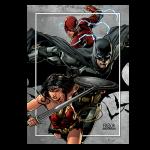 *THE JUSTICE LEAGUE - BATMAN, CYBORG, AQUAMAN,SUPERMAN, WONDER WOMAN - 2018 25 Cent Lenticular Coin - RCM