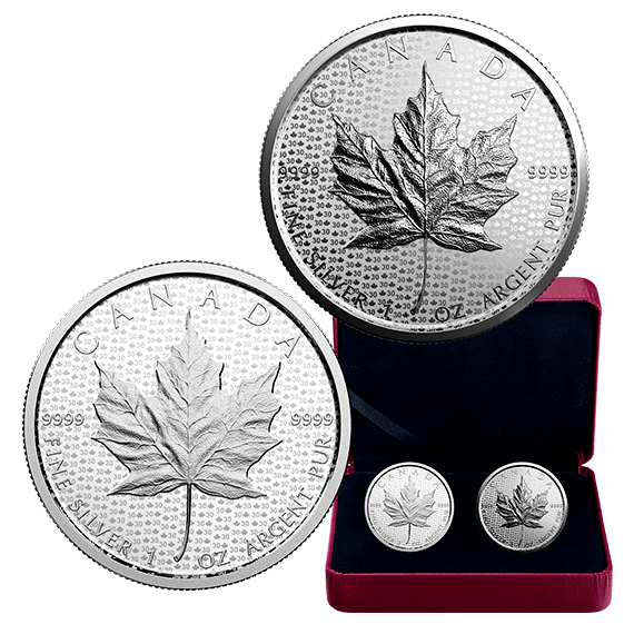 2018 Canada $5 Silver 1 oz 30th Anniversary Maple Leaf Modified Reverse Proof