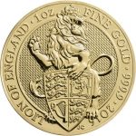 THE LION OF ENGLAND - THE QUEEN'S BEASTS - 2016 1 oz Pure Gold Coin