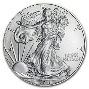 SILVER AMERICAN EAGLE - 2011 1 oz Brilliant Uncirculated Silver Coin