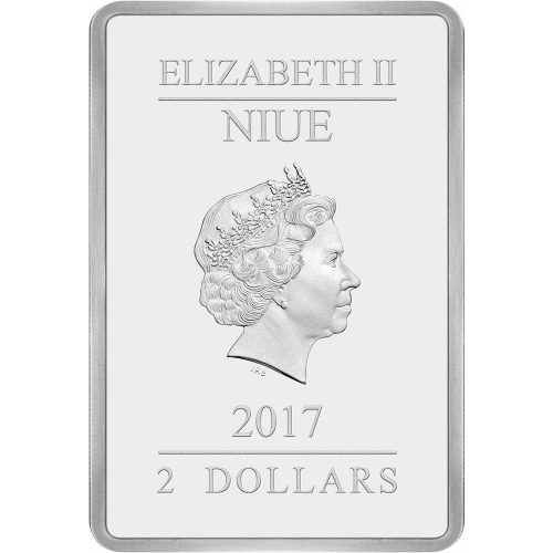 FLOWERS AND TREES - SILLY SYMPHONY - DISNEY POSTERS OF THE 1930'S - 2017 $2 1 oz Pure Silver Coin - Niue - NZ MINT