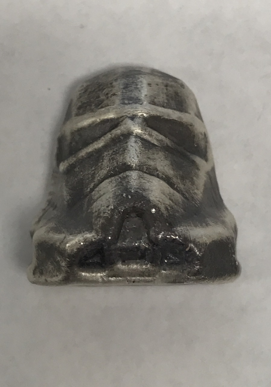 LIMITED 100 PIECES STORMTROOPERS HAND POURED 2016 1 oz Pure Silver 3D Bar