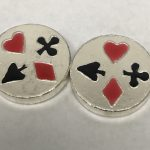 CARD SUITS - CHUNKY ROUND - BEAVER BULLION - 1 oz Pure Silver