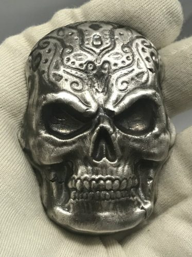 ANTIQUE CELTIC SKULL - THE COIN SHOPPE - CANADA  - 2017 10 oz Pure .999 Silver Hand Poured - SUPER LIMITED - SERIAL NUMBER - ONLY 25 PIECES