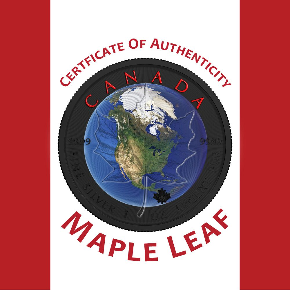 Free Shipping Maple Leaf Planet Earth 2017 Canadian