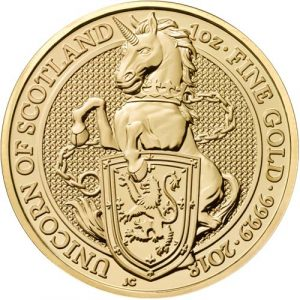 THE UNICORN OF SCOTLAND - THE QUEEN'S BEASTS - 2018 1 oz Gold Bullion Coin