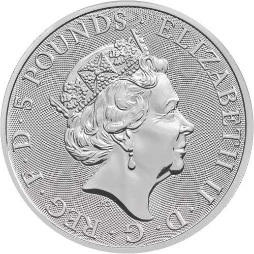 THE UNICORN OF SCOTLAND - THE QUEEN'S BEASTS - 2018 2 oz Silver Bullion Coin