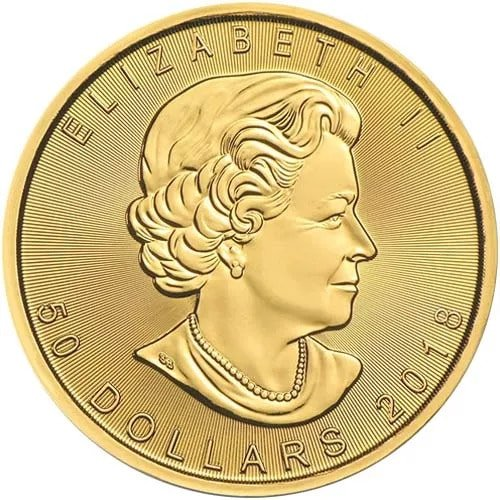 Gold Maple Leaf 2018 1 Oz Pure Gold Coin Royal