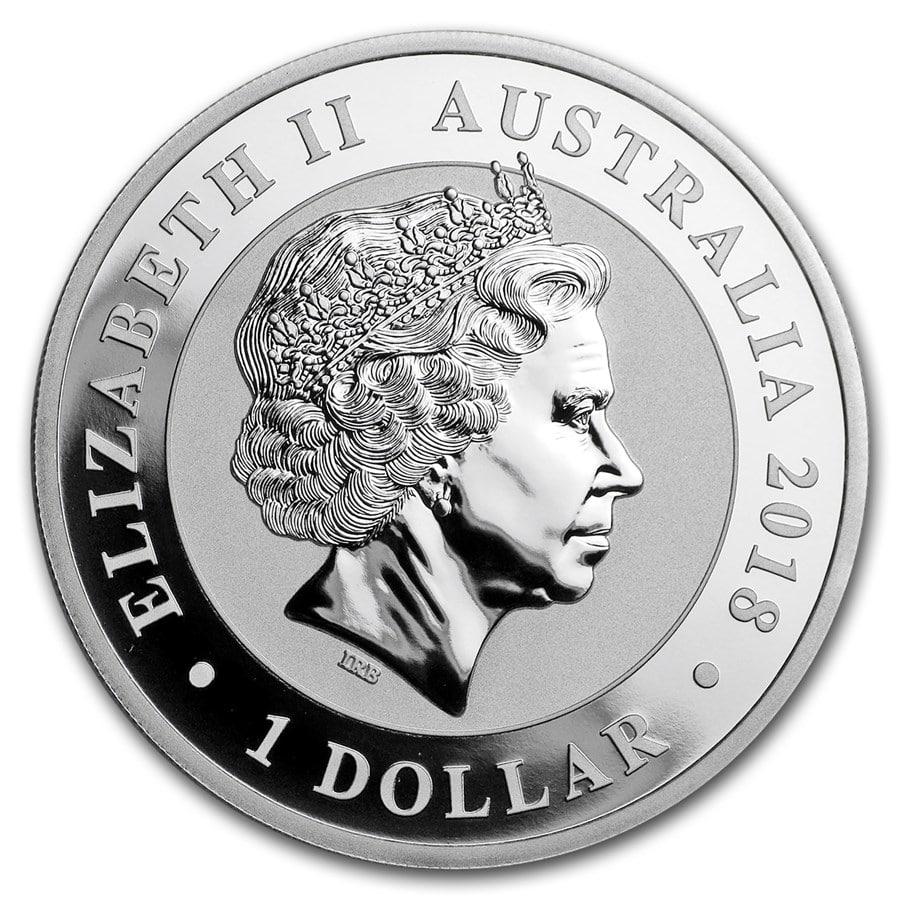 2017 Australia 1 oz Perth .9999 Silver Swan 25,000 mintage, from mint roll