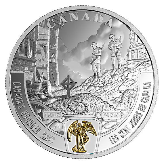 1 oz. Fine Silver Medal 2018 Canada/'s Part in the Great War