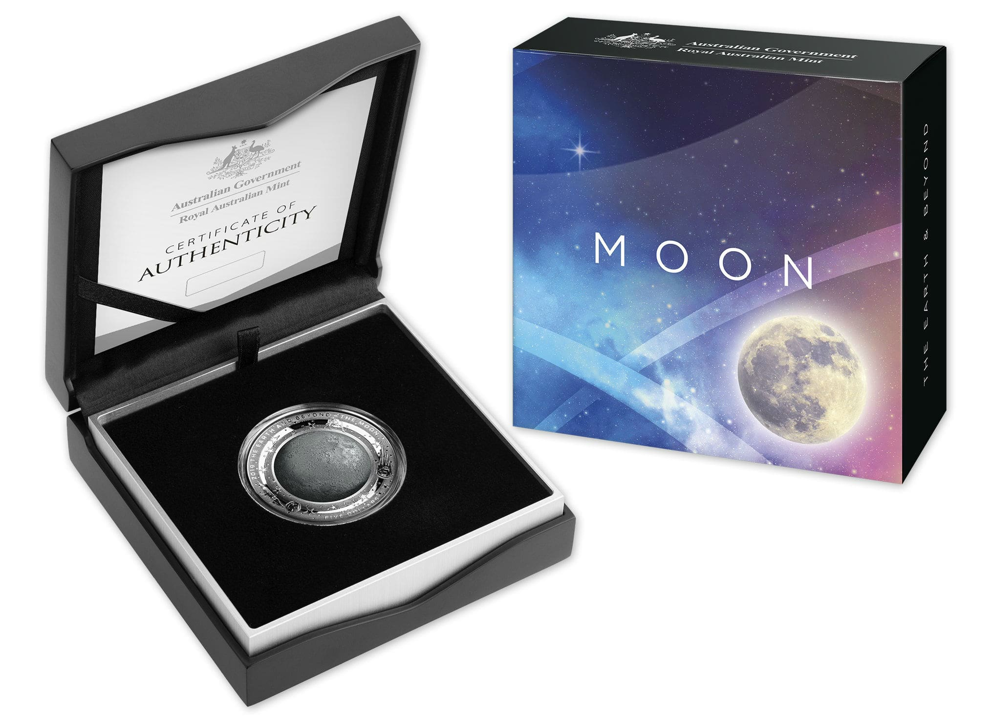 The Moon Earth And Beyond 2019 1 Oz Pure Silver Domed