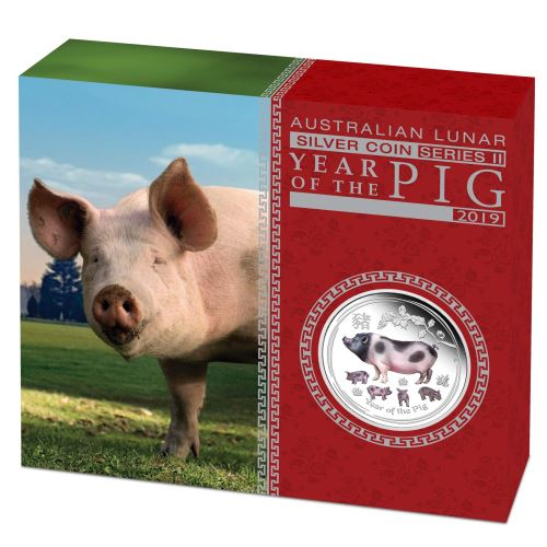 2019 Australia Opal Series Lunar Year of the Pig 1oz Silver Proof Coin PerthMint