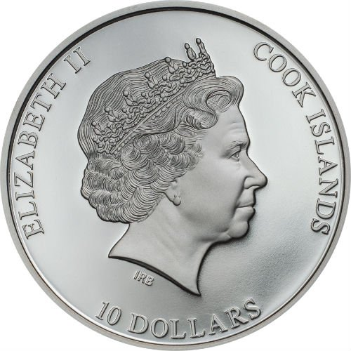 AC//DC BLACK ICE 2018 $10 2 oz Pure Silver Smartminting Coin Cook Islands CIT