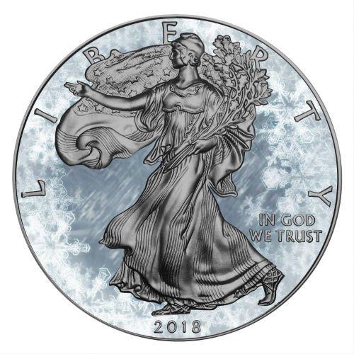 Arctic Blast 2018 1 Oz American Silver Eagle Coin