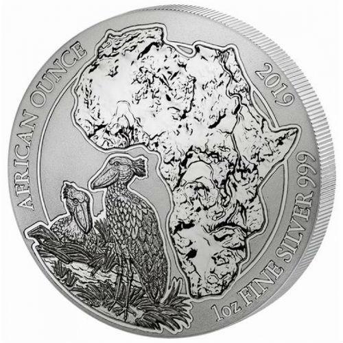 SHOEBILL 2019 1 oz Pure Silver Coin RWANDA LUNAR OUNCE Sealed