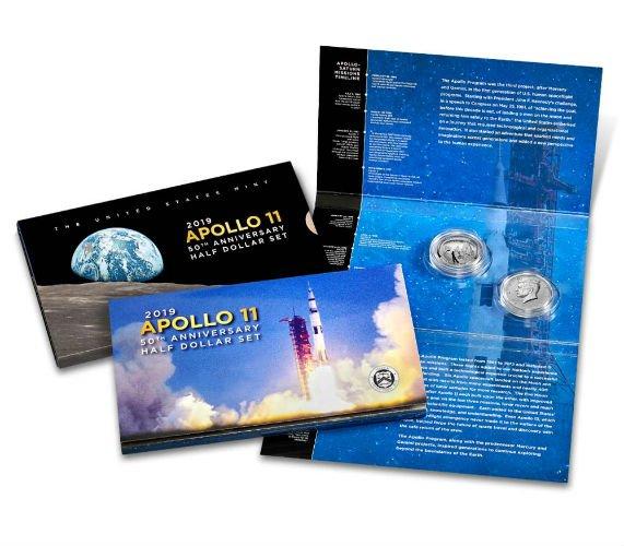 87b092af7875a Apollo 11 50th Anniversary 2019 Proof Half Dollar Set - US MINT ...