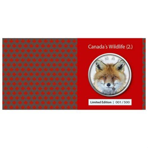2019 1 Oz Silver $5 Canadian Wildlife RED FOX MAPLE LEAF Coin..