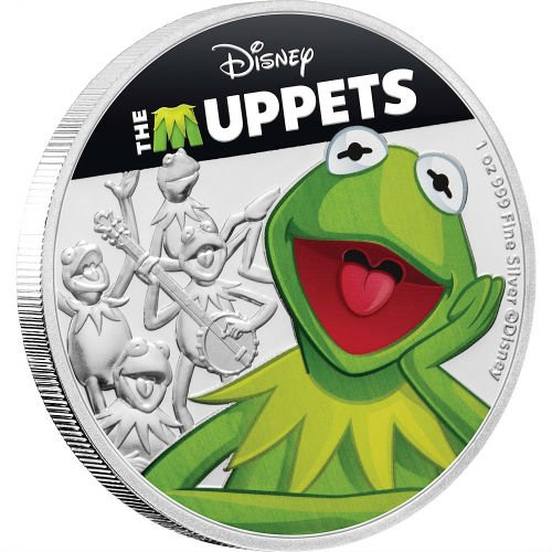 KERMIT THE FROG - DISNEY: THE MUPPETS - 2019 1 oz Pure ...