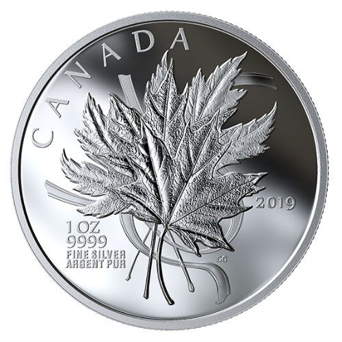 The Beloved Maple Leaf 2019 1 Oz 20 Fine Silver Coin
