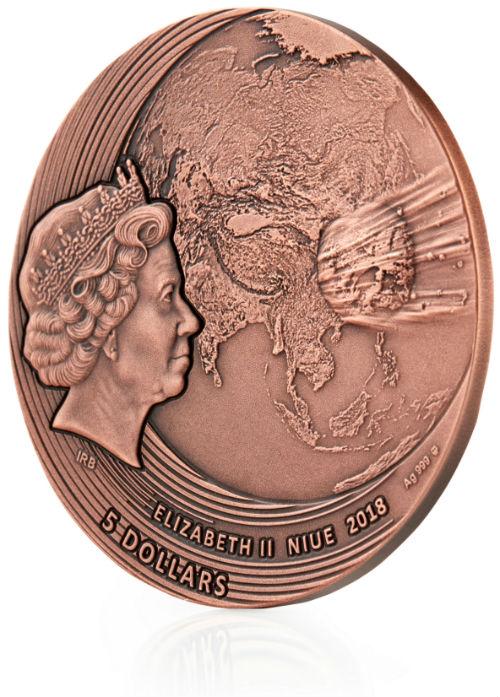 2019 1.8 oz Pure Silver Coin Niue DIAMOND TRELLIS EGG IMPERIAL FABERGÉ EGGS