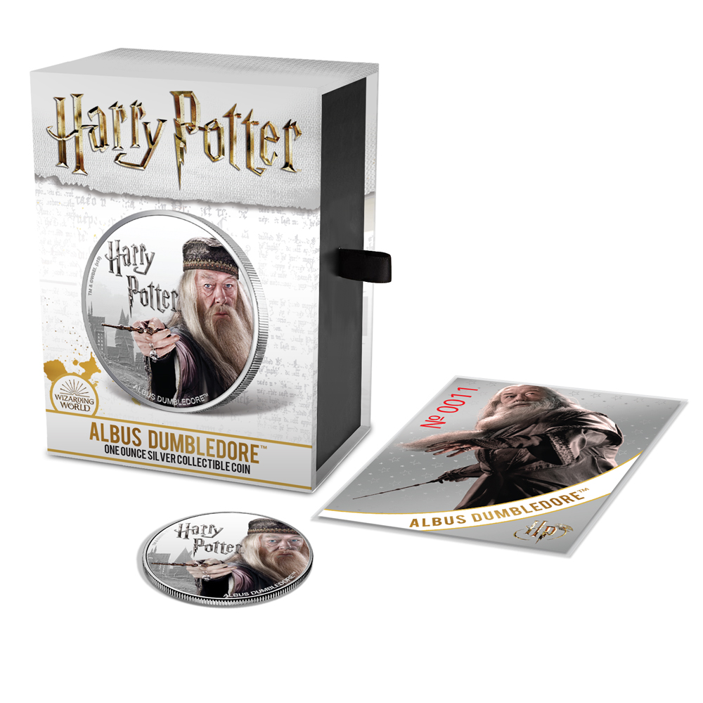 ALBUS DUMBLEDORE Harry Potter Coin Series 2020 1 oz Pure Silver Proof Coin FIJI